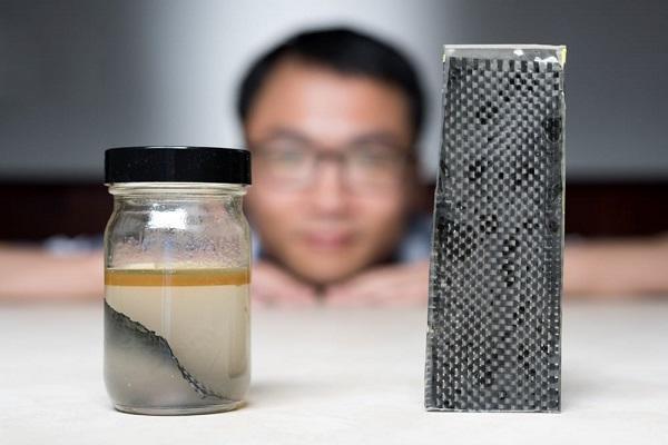 碳纤维溶解回收